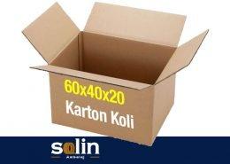 Solin Ambalaj 60x40x20 Karton Koli